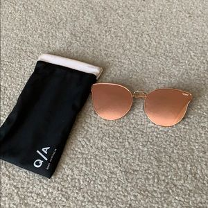 Quay Rose Gold Reflective Sunglasses